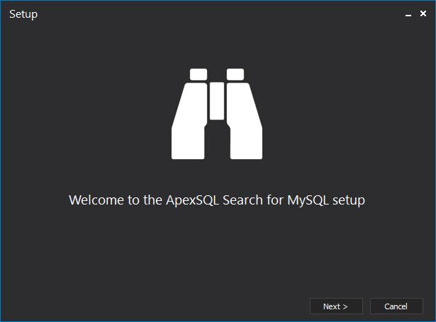 MySQL search Setup wizard